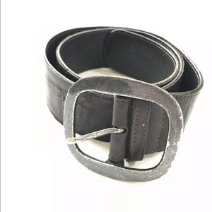 J Jill Distressed leather patchwork belt